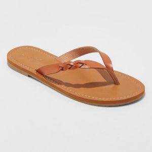 Women's Bobbie Braided Thong Flip Flop Sandals